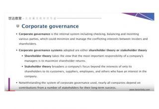 Adam教授 Corporate Governance