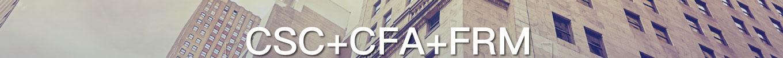CSC+CFA+FRM华尔街菁英计划