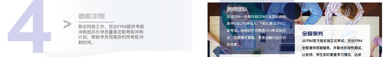 考前冲刺 - 除全科班之外,世达FRM提供考前冲刺班并为学员量身定制考前冲刺计划,帮助学员用高效利用考前冲刺时间。