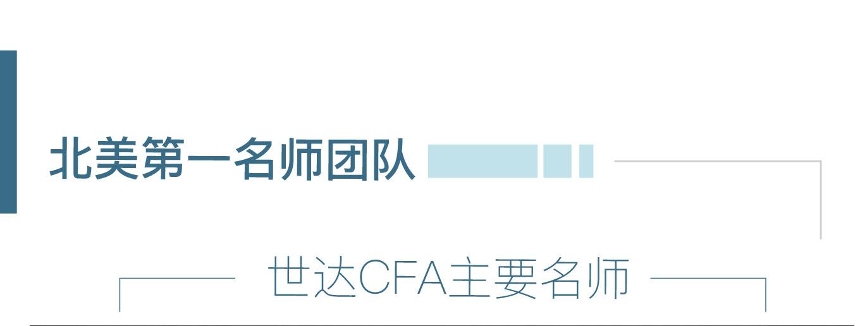 北美第一名CFA师团队,世达CFA主要名师
