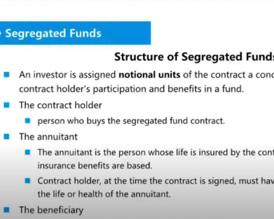CSC试听课 Chap 20 Segregated Funds 分离式保本基金