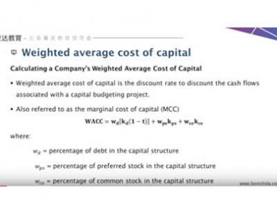 Adam教授 Weighted average cost of capital