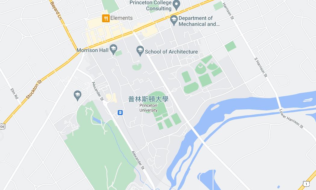 普林斯顿大学 google 位置